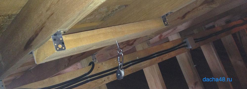 Блочики для открытия люка на чердак