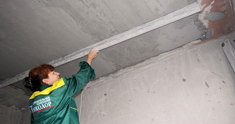 Выравнивание потолка ротбандом: видео-инструкция
