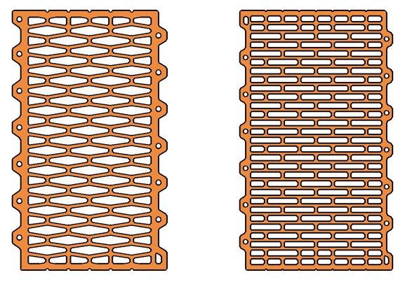 Схема расположения ячеек в блоке