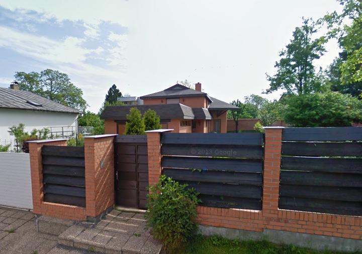 Кирпично деревянный забор