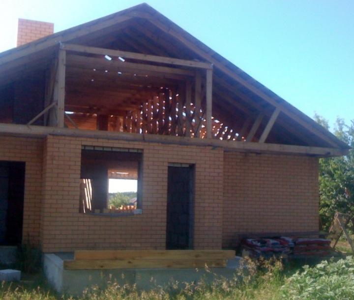 Дом с крышей из ОСП