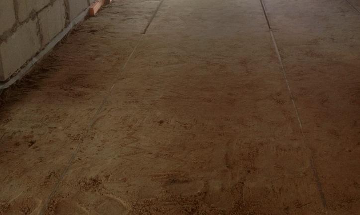 Слой из песка для пола по грунту